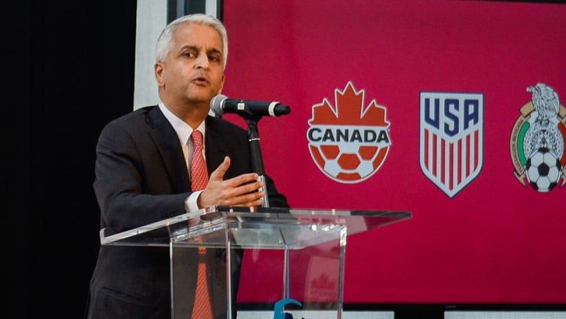 Sunil Gulati - US Soccer - speaks at 2026 World Cup bid press conference