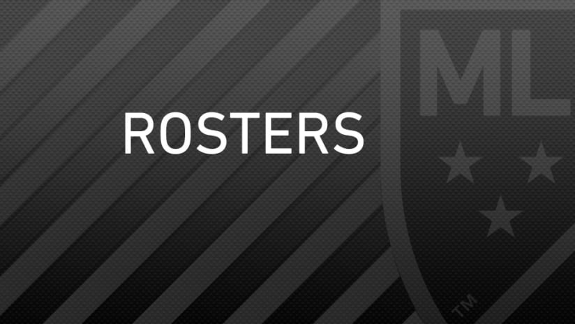 Rosters - MLS logo with black background
