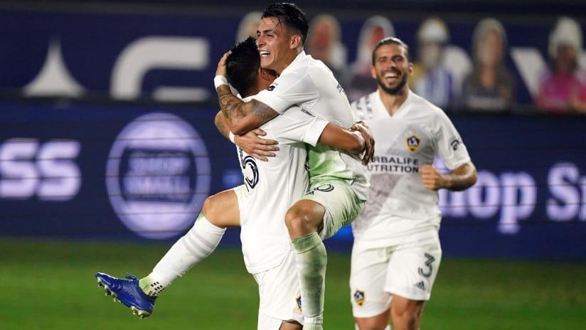 Cristian Pavon - LA Galaxy - celebrates a goal - Nov. 1, 2020