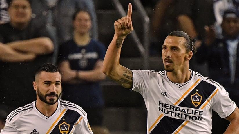 Zlatan Ibrahimovic - LA Galaxy - Points to the sky