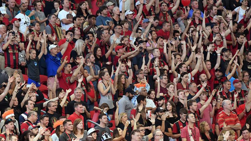 Atlanta United crowd - Mercedes-Benz