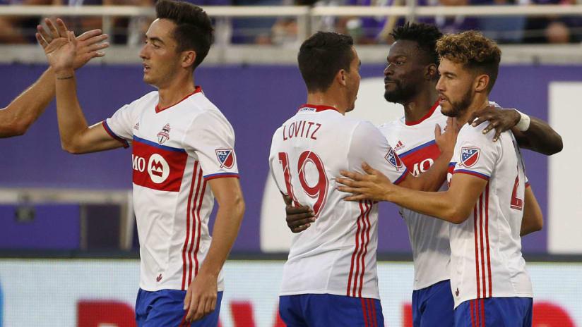 Toronto FC - celebrating a goal against Orlando City