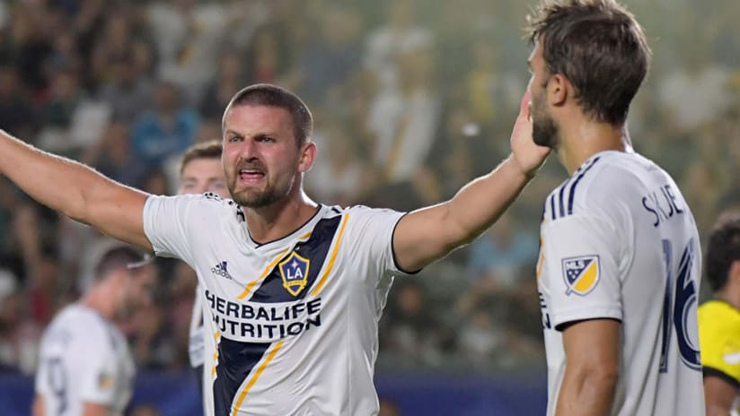 Perry Kitchen - LA Galaxy - reacts angrily