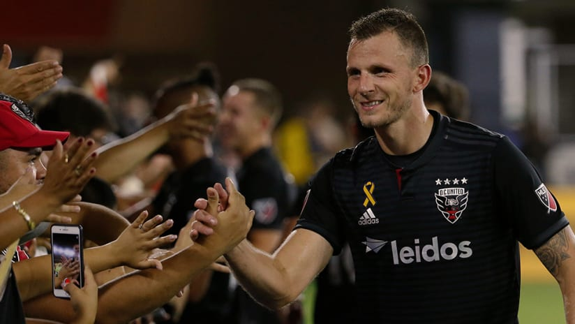 Frederic Brillant - DC United - With fans