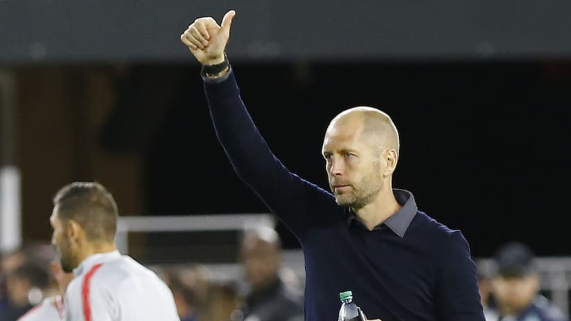 Gregg Berhalter thumbs up