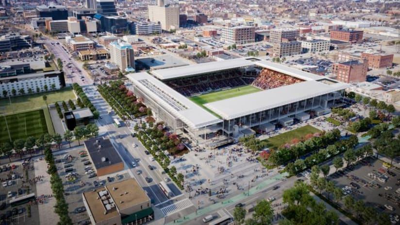 St. Louis City stadium rendering - exterior