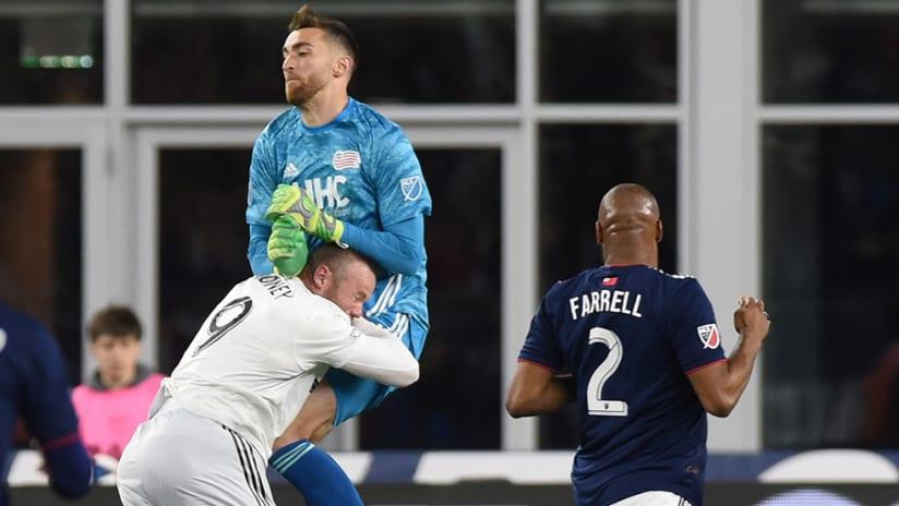Matt Turner – crashes into Wayne Rooney – New England Revolution
