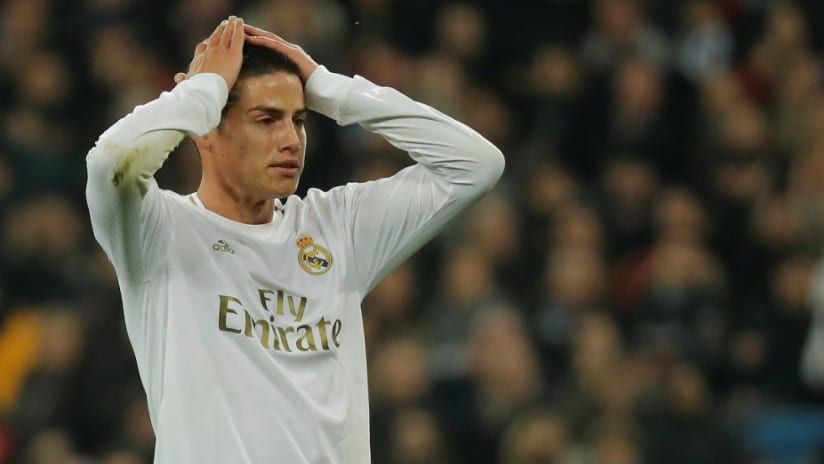 James Rodriguez - Real Madrid - holds head