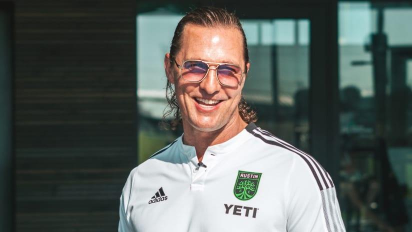 VERDE! LISTOS! Watch Matthew McConaughey fire up Austin FC players before home opener