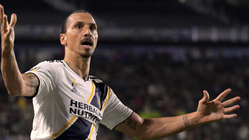 Zlatan Ibrahimovic - LA Galaxy - Celebrates goal