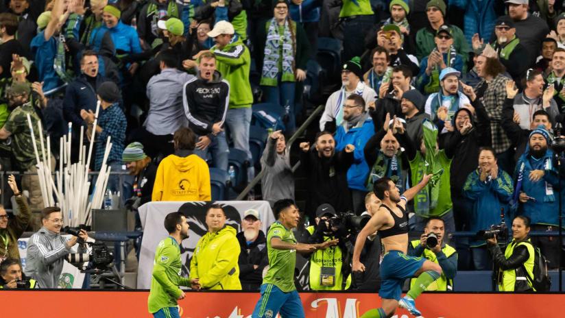 Seattle celebrate at Centurylink