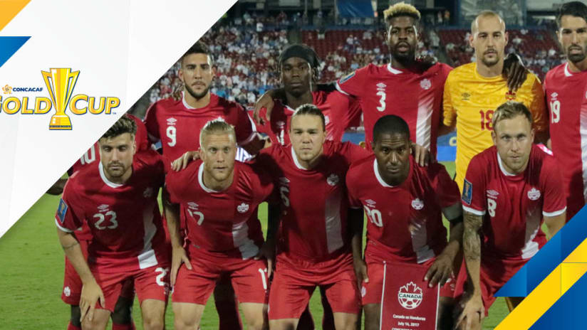 Gold Cup overlay - Canada - starting XI photo