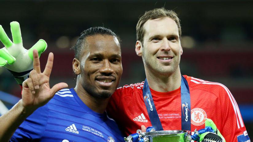 Didier Drogba - Peter Cech - Chelsea Teammates - January 2015