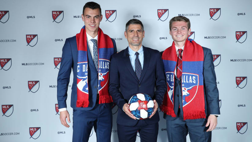 Callum Montgomery - Luchi Gonzalez - John Nelson - FC Dallas - 2019 MLS SuperDraft