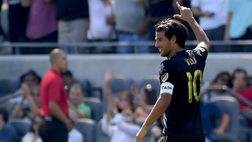 Carlos Vela - LAFC - back - smiling
