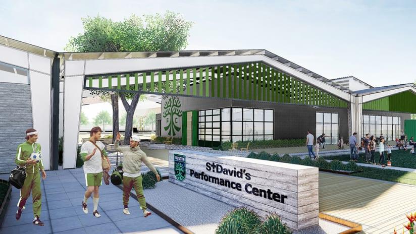 Austin FC St. David's Performance Center rendering