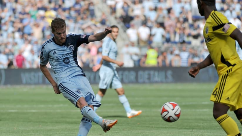 "Oriol ""Uri"" Rosell - Sporting KC - in MLS action in 2014"