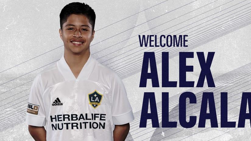 Alex Alcala - Galaxy II - signing