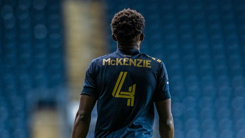 Mark McKenzie back of jersey - Philadelphia Union