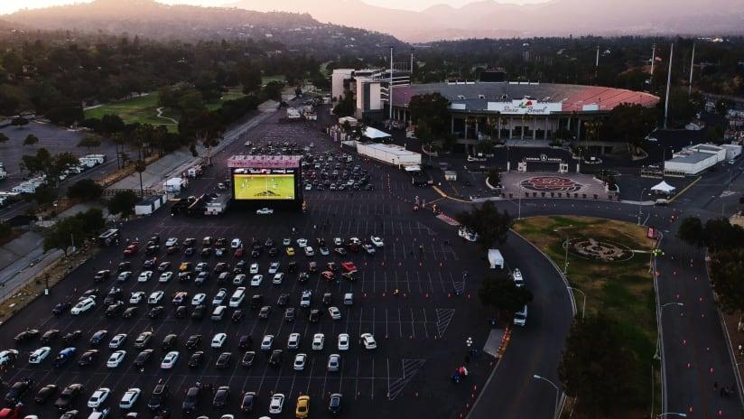 LA Galaxy - drive in - movie theater