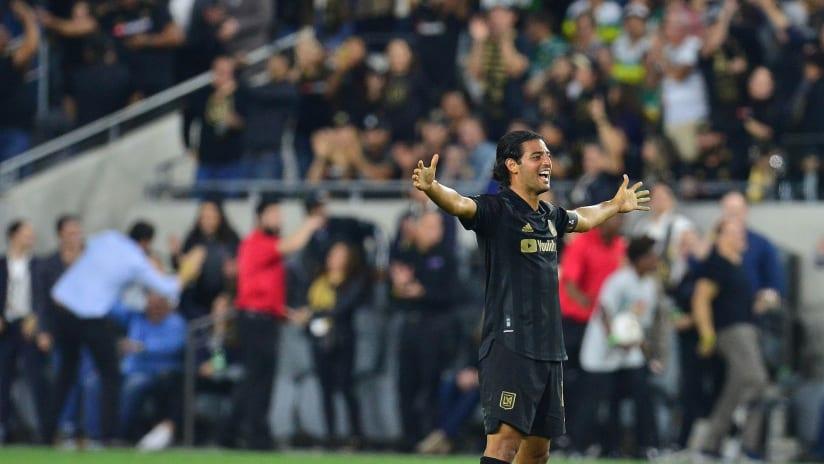 Carlos Vela - LAFC - arms spread open