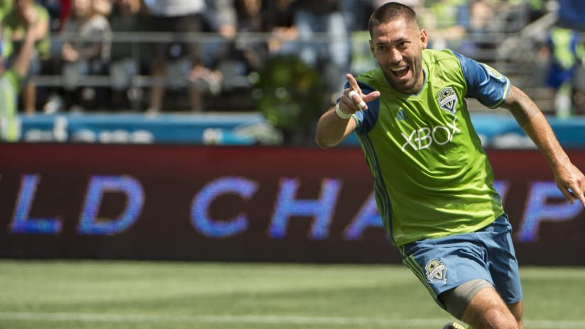 Clint Dempsey - Seattle Sounders - isolated - celebration