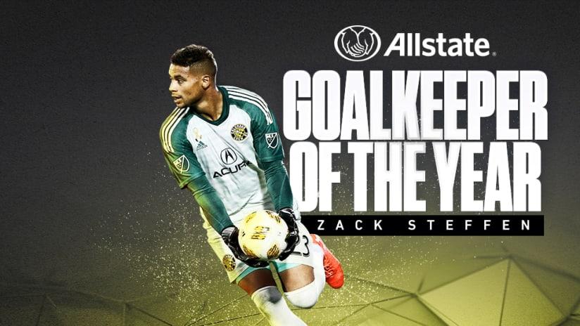 2018 Awards - Goalkeeper of the Year - Zack Steffen