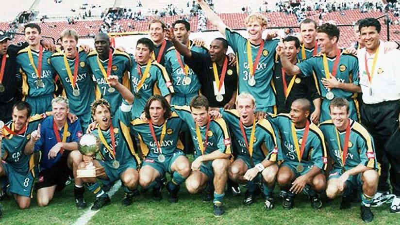 LA Galaxy celebrate CONCACAF Champions' Cup win