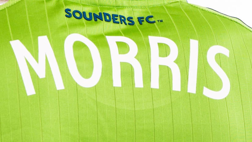 Jordan Morris - Seattle Sounders - January 2015 - Jersey close up