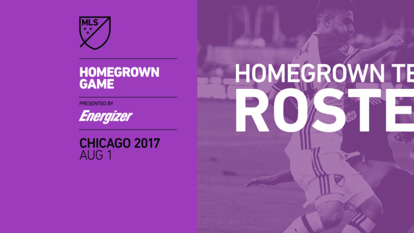 2017 MLS Homegrown Game - Roster Announcement