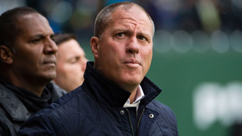 Giovanni Savarese - Portland Timbers - looking up - tight shot