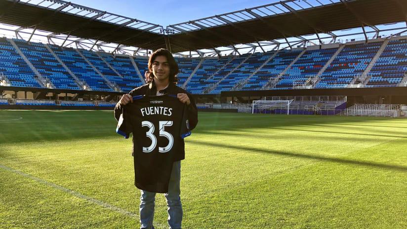 Gilbert Fuentes - San Jose Earthquakes - introduced at Avaya Stadium