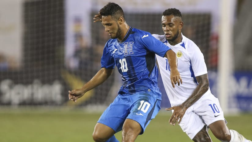 Alexander Lopez - Leandro Bacuna - Honduras - Curacao - Gold Cup