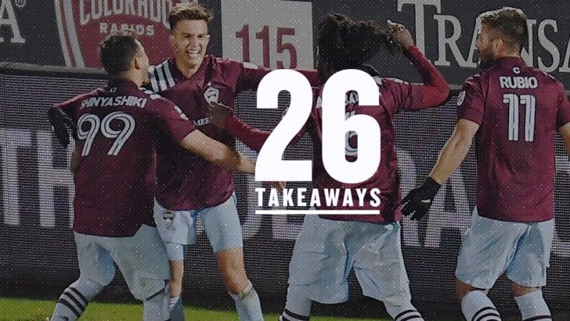 26 Takeaways - Colorado Rapids celebration - Nov. 2, 2020