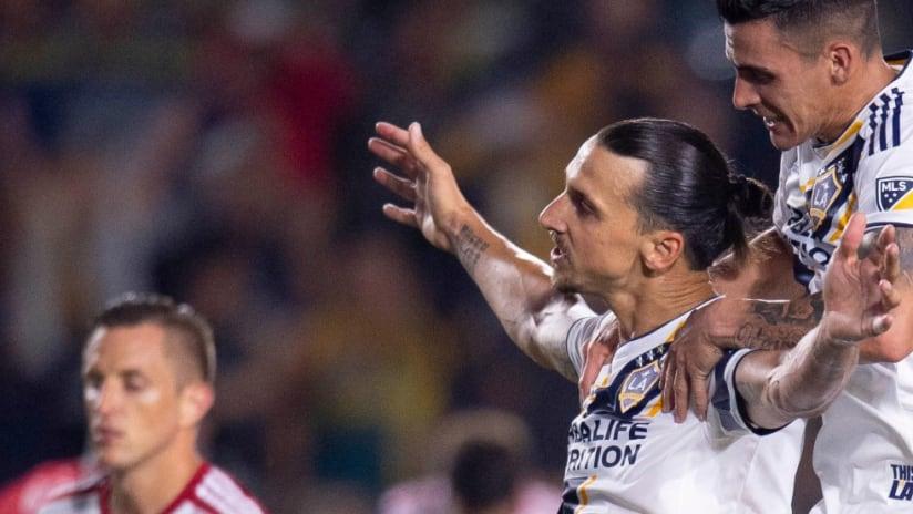 Zlatan Ibrahimovic - Cristian Pavon - penalty conversion