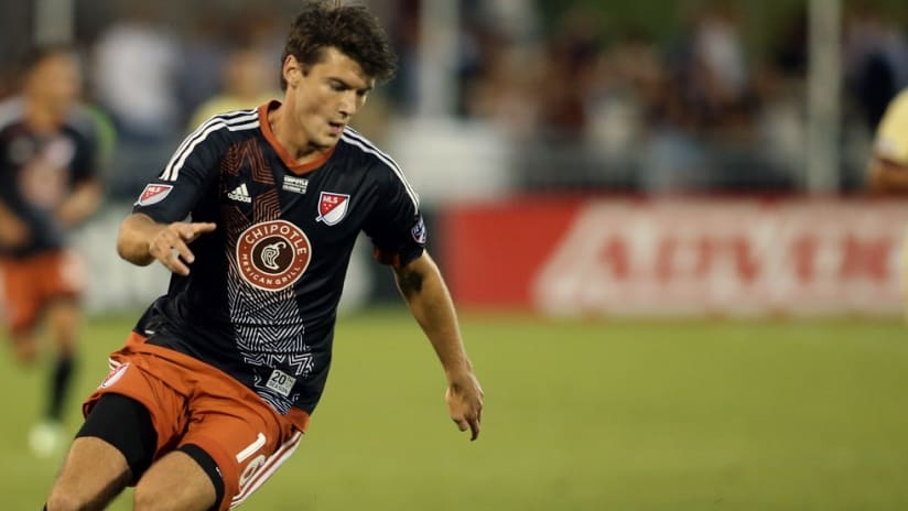 FC Dallas forward Coy Craft in action at the 2015 Chipotle Homegrown Game