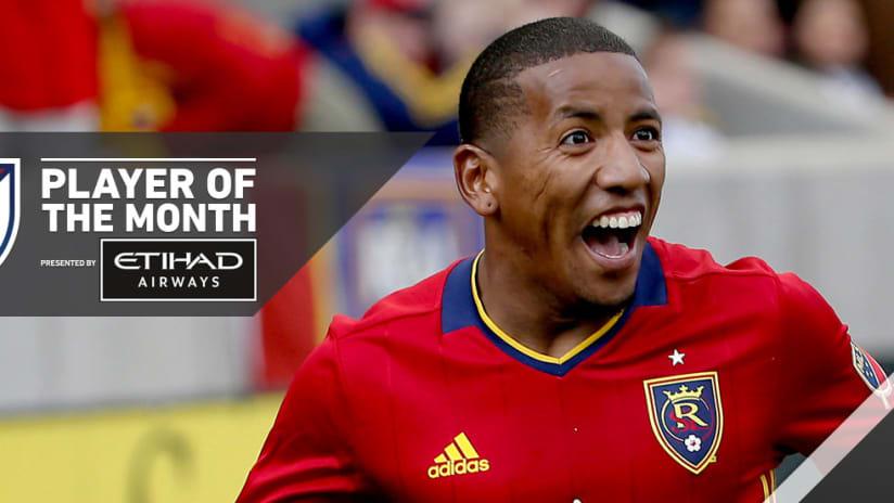 Joao Plata - Real Salt Lake - Player of the Month
