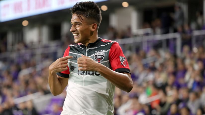 Yamil Asad - D.C. United - celebrates his goal vs. Orlando City