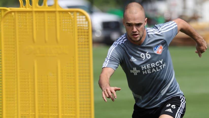 Andrew Gutman - training with FC Cincinnati