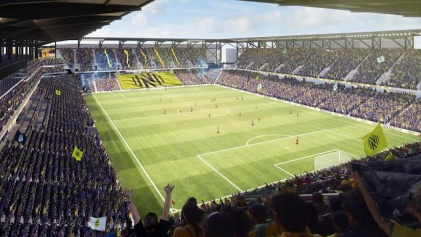 Nashville SC stadium rendering