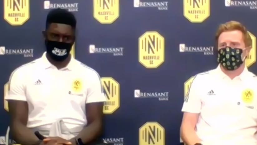 Dax McCarty - Jalil Anibaba - Press conference