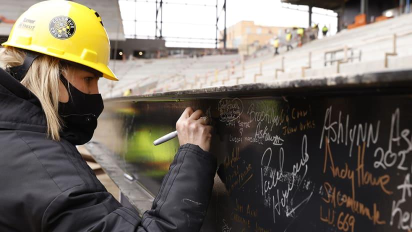 Columbus Crew SC - stadium beam signing