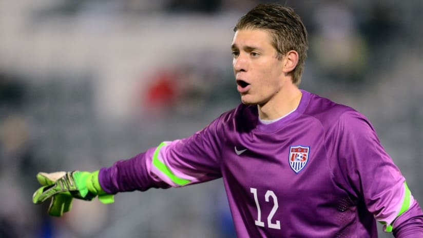 US U-23 national team goalkeeper Ethan Horvath in action - 10/6/15 - Olympic qualifying