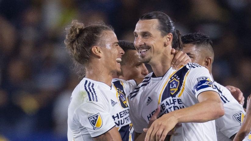 Rolf Feltscher - Zlatan Ibrahimovic - LA Galaxy - smiles