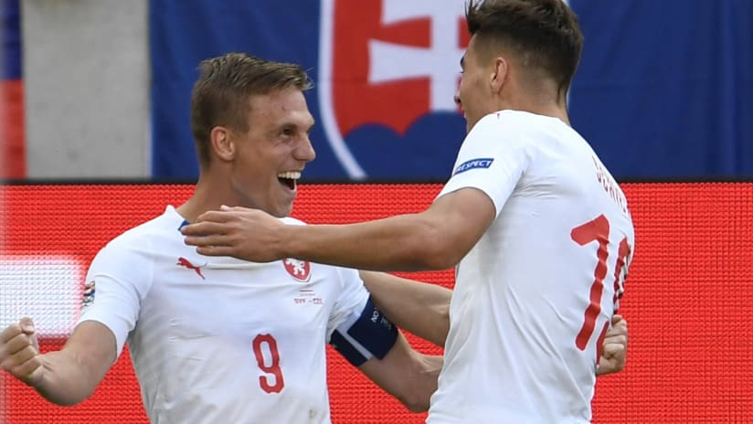 Borek Dockal - Philadelphia Union - celebrates a goal for the Czech Republic