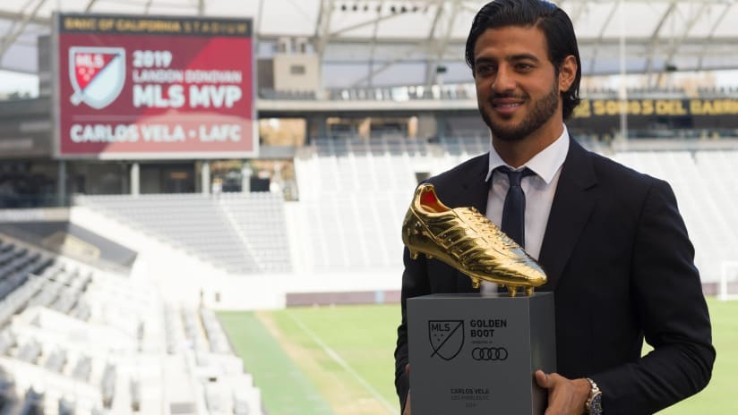 Carlos Vela - LAFC - Poses with Golden Boot