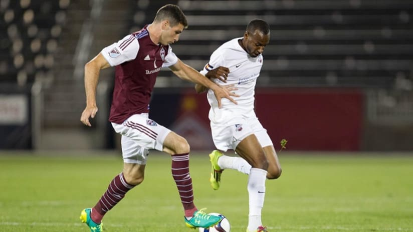 Joseph Greenspan in action for the Colorado Rapids