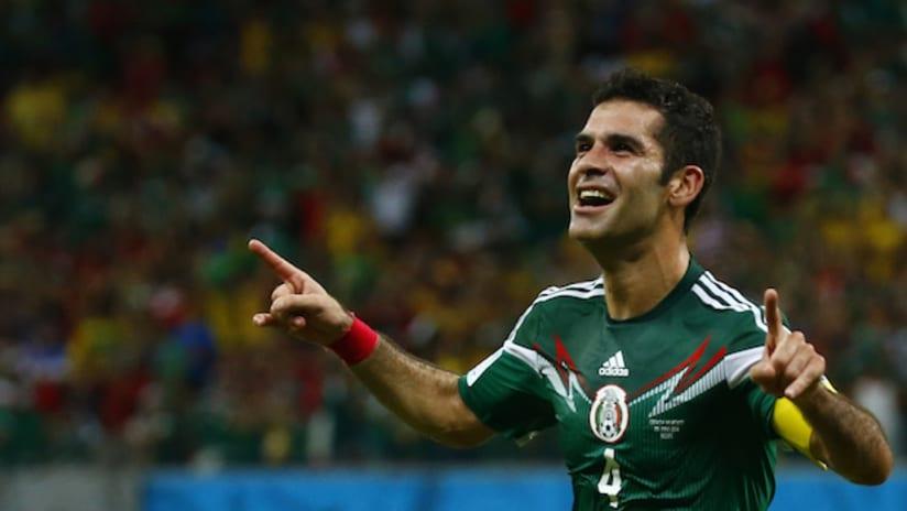 Rafael Marquez celebrates his goal vs. Croatia in the World Cup