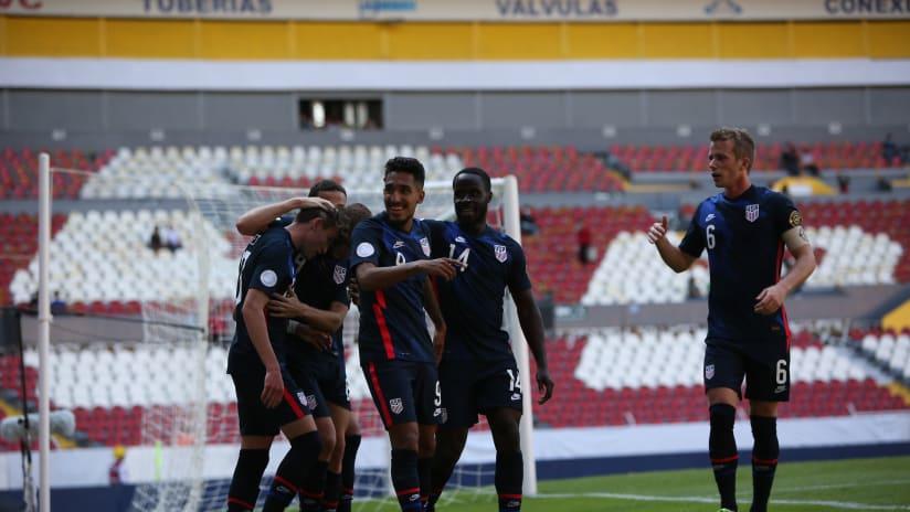 Jesus Ferreira - US U23 - celebration v Costa Rica