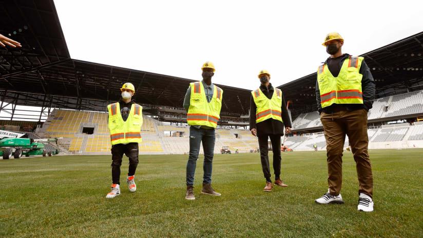 Sod installation –New Crew Stadium